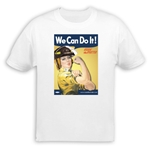 We Can Do It! Firefighter Rosie the Riveter T-Shirt