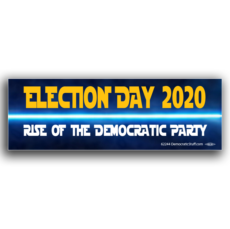 Rise of the democrats bumper sticker bs62244 democraticstuff com