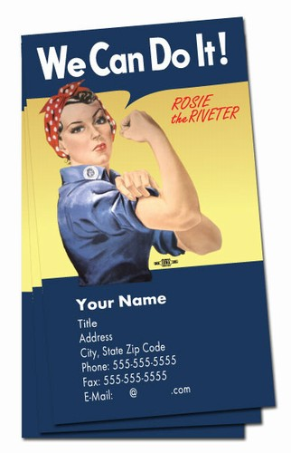 we can do it  rosie verticle business cards