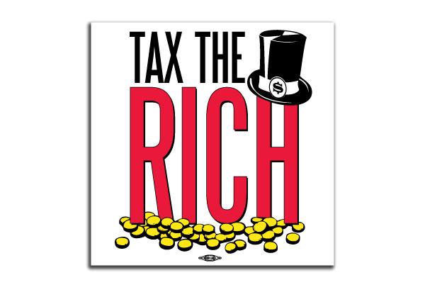 Tax The Rich Bumper Sticker Bs58280 Democraticstuff Com