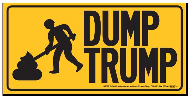 Dump Trump Bumper Sticker Bs55027 Democraticstuff Com