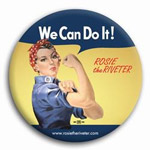 Rosie the Riveter Buttons