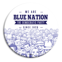 "Blue Nation People 3"" Button"
