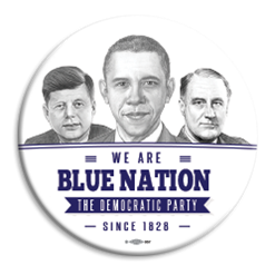 "Blue Nation Presidents 3"" Button"