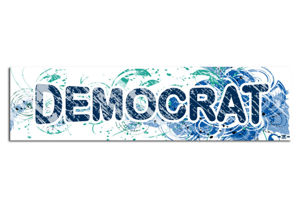 Democrat Fancy Design Bumper Sticker