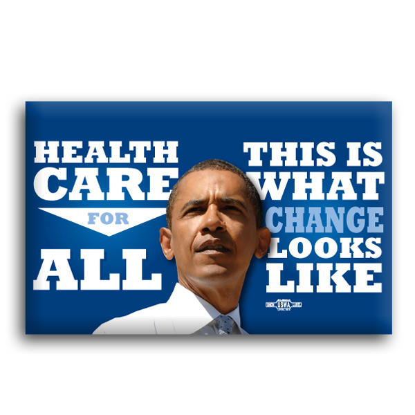 Healthcare For All Button