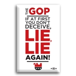 GOP Lie, Lie Again Button