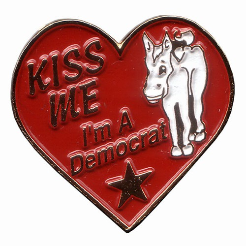 Kiss Me I'm a Democrat Lapel Pin
