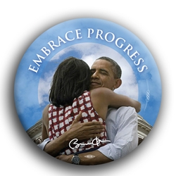 "Embrace Progress 3"" Button"