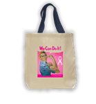 Ethnic Rosie in Pink Tote Bag