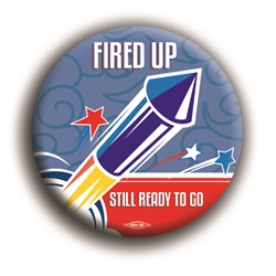 "Fired Up 2.25"" Button"