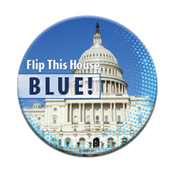 "Flip This House Blue Dots 3"" Button"