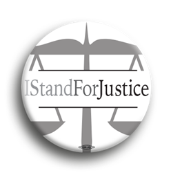I Stand For Justice 1.75""