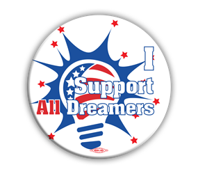 "I Support All Dreamers 3"" Button"