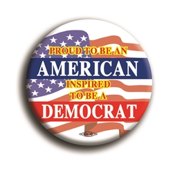"Inspired To Be A Democrat 2.25"" Button"