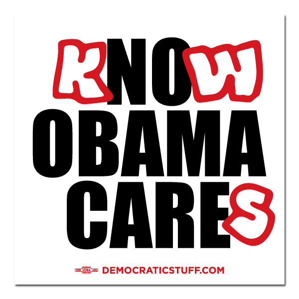 Know Obama Cares Bumper Sticker
