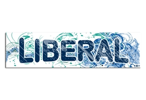 Liberal Fancy Design Bumper Sticker