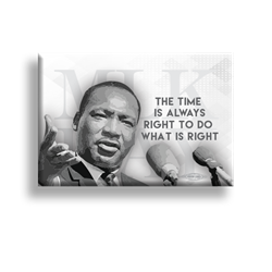 "MLK The Time is Right 2"" x3"" Button"