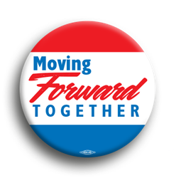 "Moving Forward Together 3"" Button"
