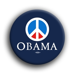 "Obama For Peace 2.25"" Button"