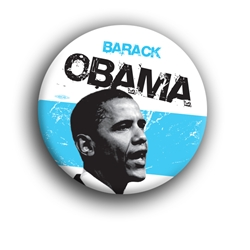 "Obama Malcolm X Styled 3"" Button"