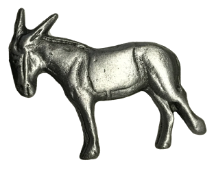 Pewter Donkey Lapel Pin