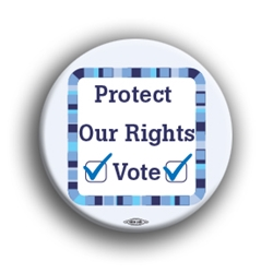 "Protect Our Rights Vote 3"" Button"