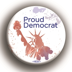 "Proud Democrat 2.25"" Button"