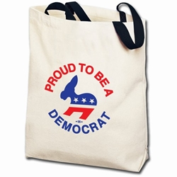 Proud to be Democrat Totebag