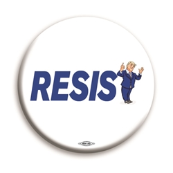 "Resist Trump 3"" Button"