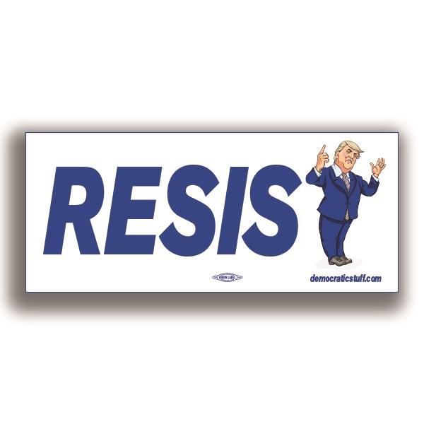 Resist trump bumper sticker bs62310 democraticstuff com