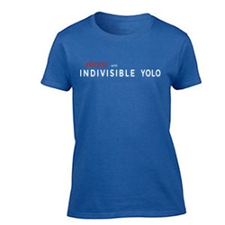 Resist with Indivisible Yolo Womens T Shirt