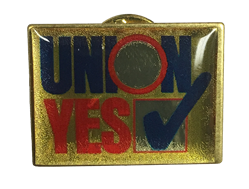 Vote Union Lapel Pin