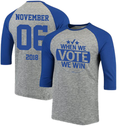 When We Vote We Win, NOV 6 – Baseball Shirt 3/4 Sleeves