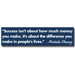 Michelle Obama Success Bumper Sticker