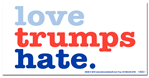 Love Trumps Hate Anti-Trump Bumper Sticker