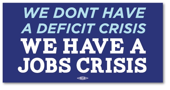 No Deficit Crisis Bumper Sticker