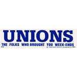 Union Weekend Bumper Sticker