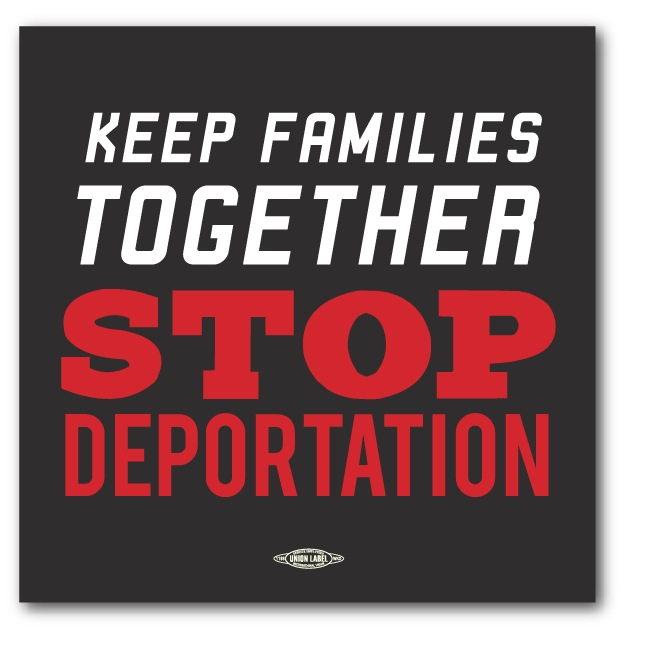 Stop Deportation Bumper Sticker