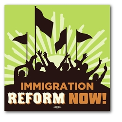Immigration Reform Now Bumper Sticker
