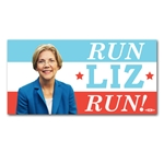 Run Liz Run Elizabeth Warren Bumper Sticker