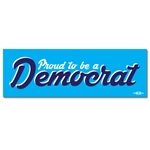 Proud to be a Democrat Script Bumper Sticker
