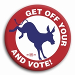 Get Off Your Donkey and Vote Button