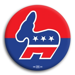 Democratic Donkey Button