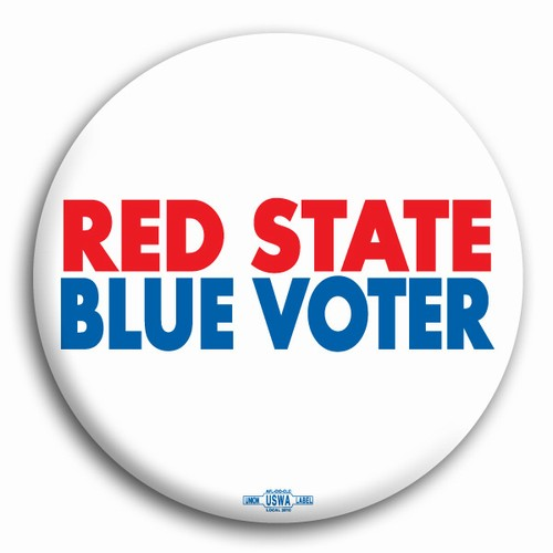 Red State Blue Voter Button
