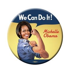 Michelle Obama We Can Do It Rosie the Riveter Button