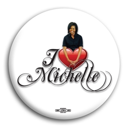 I Heart Michelle Obama Button