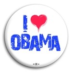 I Heart Obama Button