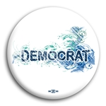 Democrat Fancy Design Button