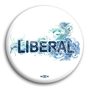 Liberal Fancy Design Button